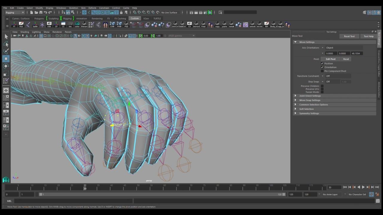 Rooster Teeth 'RWBY' Tutorial #4: Skin Fingers Evenly in Maya