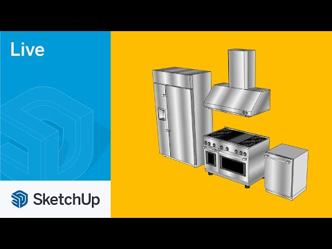 Modeling GE Appliance in SketchUp Live!