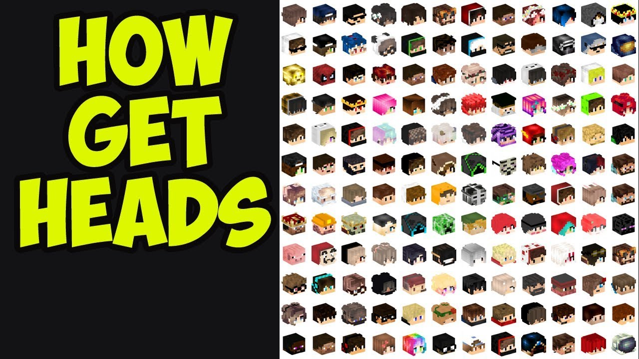 How To Get Minecraft Player Heads! 9.96.9, 9.99.9, 9.99.9