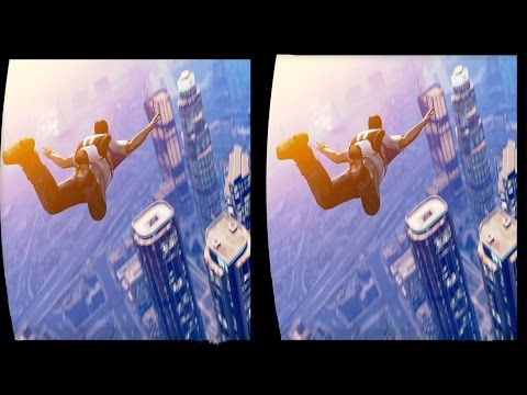 3D GTA V FREE PARACHUTE JUMP COLLECTION VR Videos 3D SBS Google Cardboard VR Virtual Reality VR Box