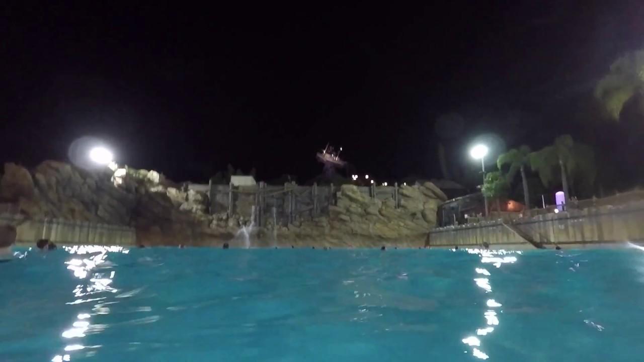 pool water at night. Typhoon Lagoon Water Park Wave Pool At Night - Walt Disney World