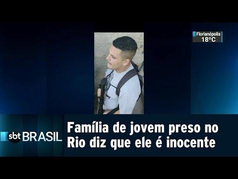 Família de jovem preso no Rio diz que ele é inocente e vítima de engano | SBT Brasil (18/08/18)