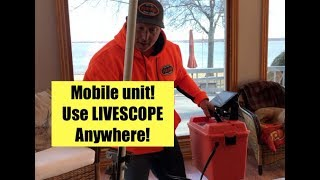 How to build your own Mobile #LIVESCOPE fish finding system!