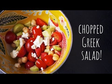 Greek Chopped Salad | Kid-friendly Salad For School Lunch Or Easy Dinner | One Hungry Mama