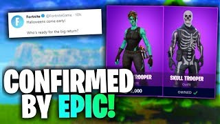 FORTNITE BATTLE ROYALE | NEW GIFTING SYSTEM | NEW SKULL TROPPER CONFIRMED RETURN|