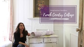 DIY: Transform Furniture with Removable Wallpaper| French Country Cottage