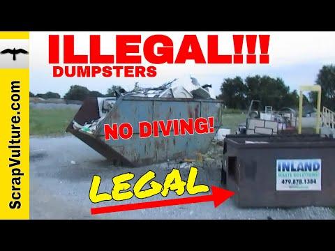 METAL SALVAGE DUMPSTERS!! Don't Get ARRESTED Dumpster Diving For Scrap Metal! Illegal Dumpster Dives
