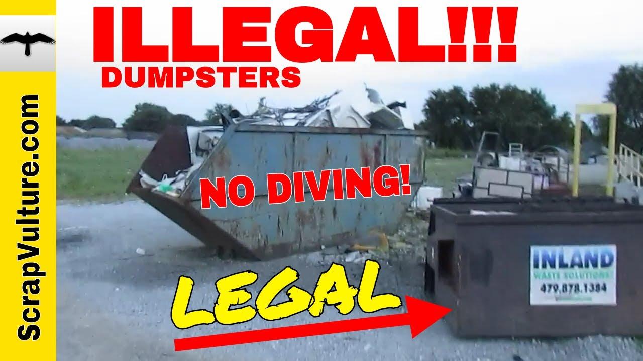 Metal Salvage Dumpsters Don T Get Arrested Dumpster