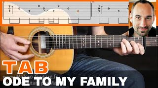 Ode To My Family Guitar Tab