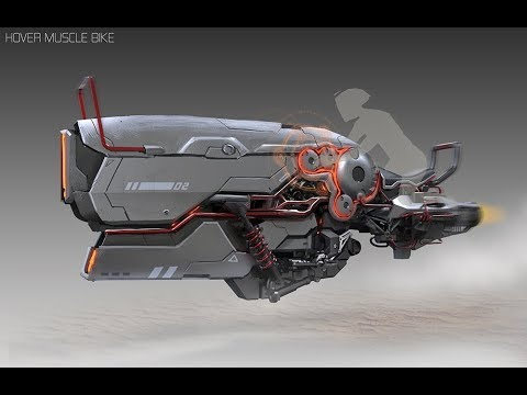 Hover Motorcycle Concept Art