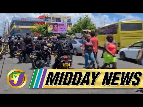 Chaos in Downtown Kingston Jamaica, 5 Dead   TVJ Midday News - Sept 10 2021