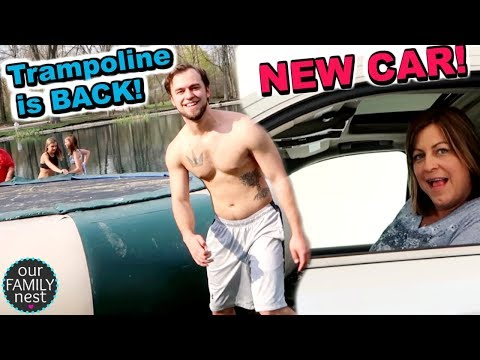 WE GOT A NEW CAR!!! OUR POND TRAMPOLINE IS BACK!!