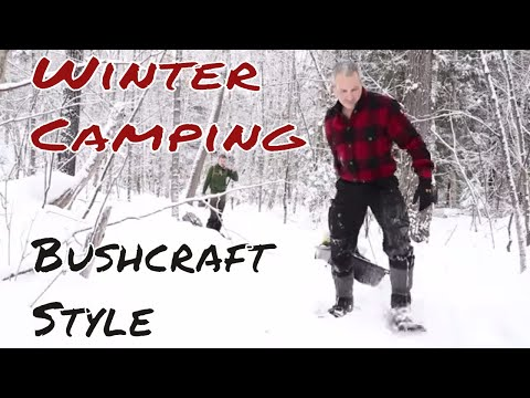 Winter Bushcraft Camp & Snow Shelter with Shawn James & Joe Robinet