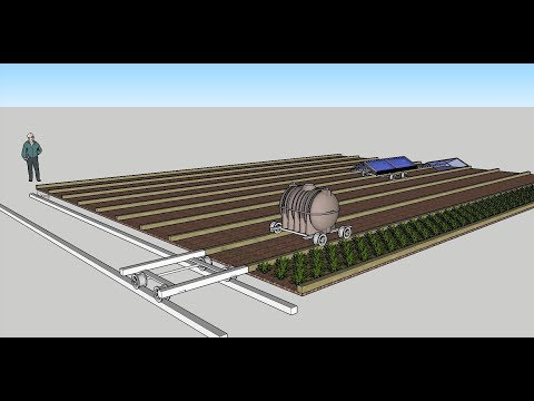 Rail Farming - high intensity organic farming system