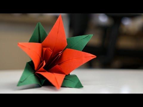 tulpen aus papier falten einfach und sch n origami doovi. Black Bedroom Furniture Sets. Home Design Ideas