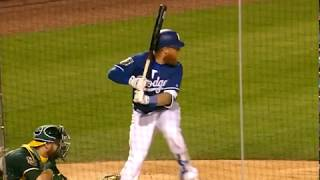 Justin Turner gets hit in the hand by a pitch and exits the game