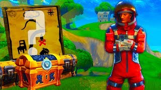 *RARE SECRET* TREASURE MAP TIER LOCATION In Fortnite: Battle Royale!