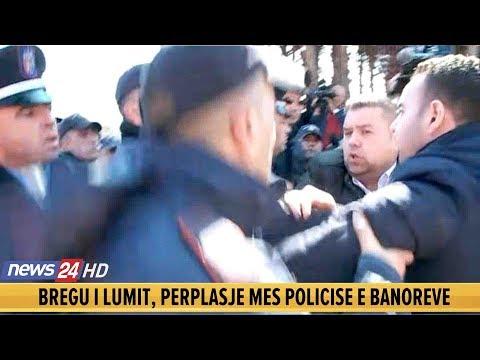 """Policia  përplaset me ish-deputetët te """"Bregu i Lumit"""", ushtron dhunë ndaj banorëve"""