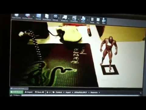 Augmented Reality interactive character