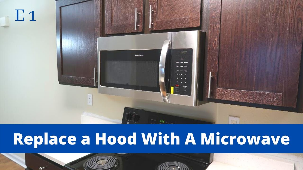 installing a microwave in place of a range hood e1