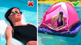 13 Beach Life Hacks / Coolest Summer Ideas!