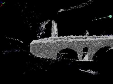 LiDAR 3D-model of a Roman aqueduct in Baelo Claudia, Southern Spain