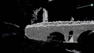 LiDAR 3D-model of a Roman aqueduct in Baelo Claudia, Southern Spain