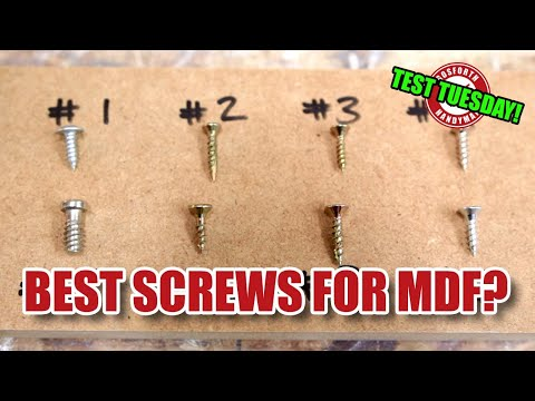Best screws for MDF? MDF screw face grain in-depth test! TEST TUESDAY! [152]