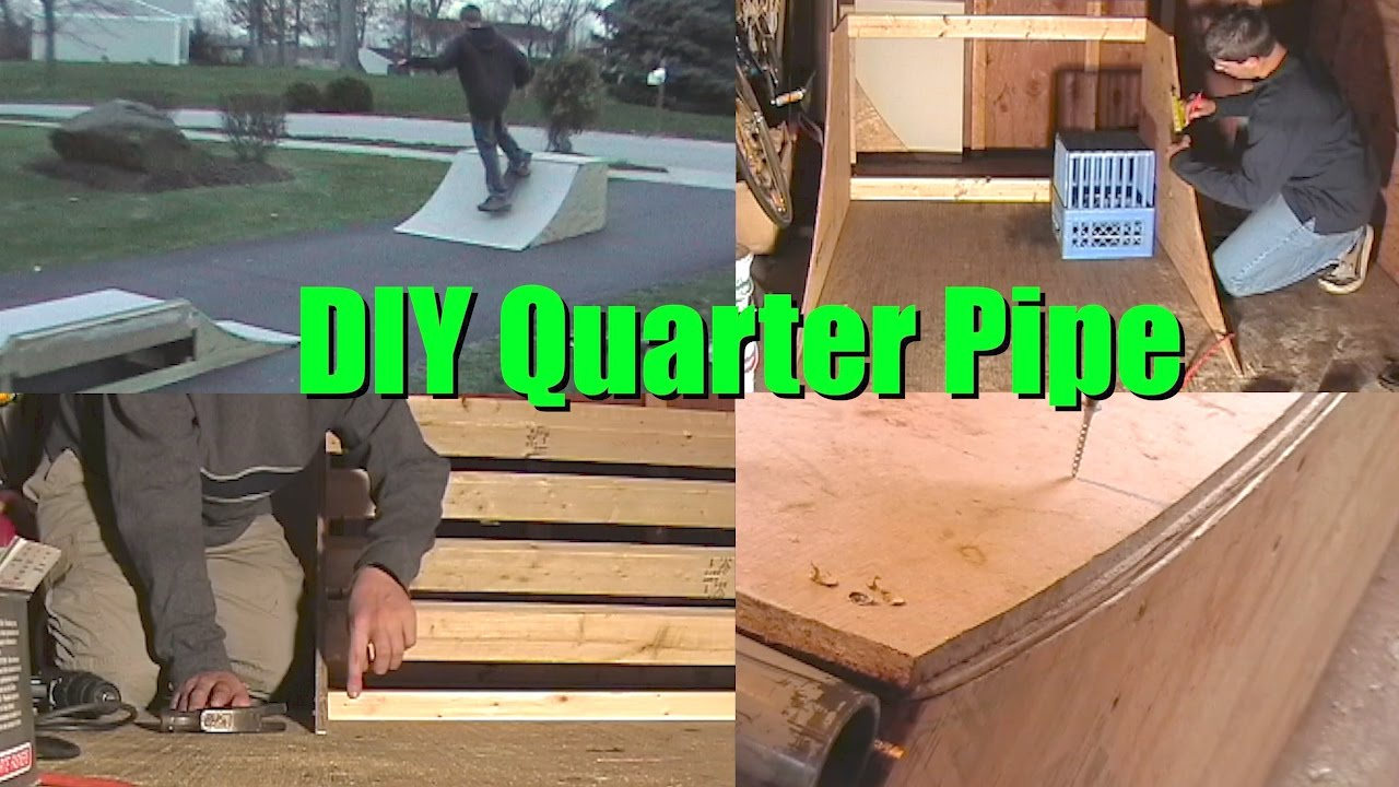 Free mini halfpipe plans - How To Build 3 Or 4 Quarter Pipe Mini Skate Ramp Diy Step By Step Instructions Halfpipe Plans