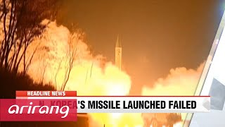 NEWSCENTER 22:00 N. Korea fails with missile launch attempt: S. Korea defense ministry