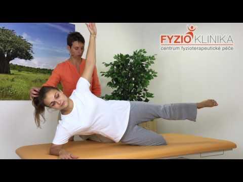 aktivace šikmých břišních svalů v šikmém sedu