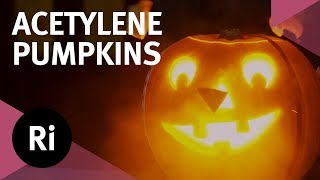 Exploding Acetylene Pumpkins! Halloween Science