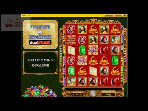 Doubles Winlines in Da Vinci Diamonds Dual Play Slot Machine