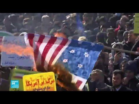 شعارات رفعها الإيرانيون في الذكرى 41 للثورة الإسلامية  - 15:01-2020 / 2 / 12