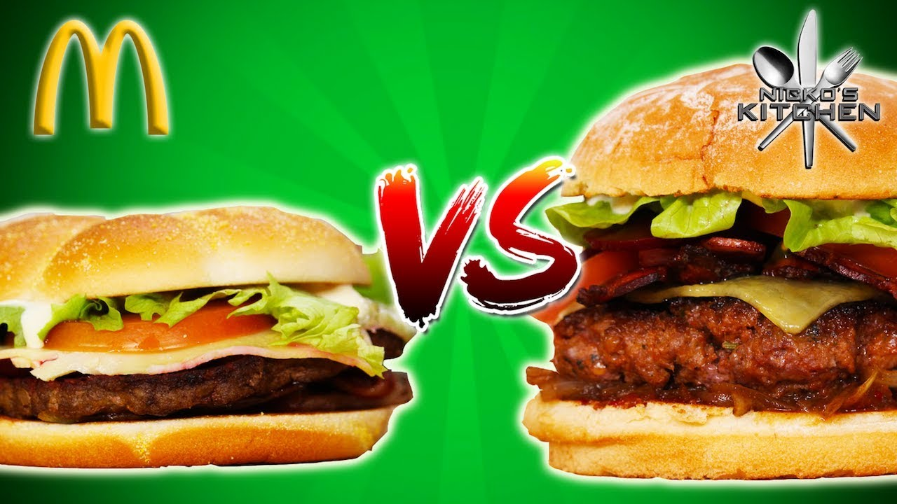 Fast Food Burger Vs Homemade