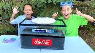 Experiment: Coca Cola and Mentos with Heidi and Zidane