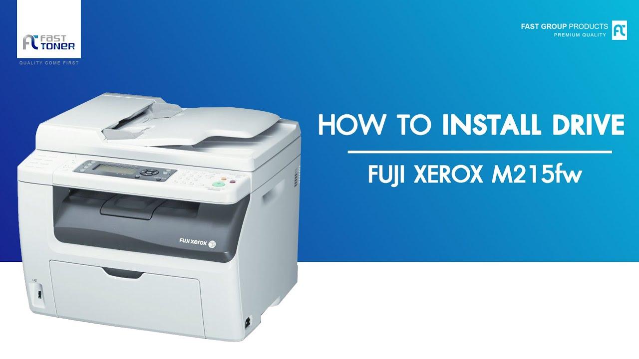 ว ธ ต ดต ง Driver Fuji Xerox M215fw แบบ Download Youtube