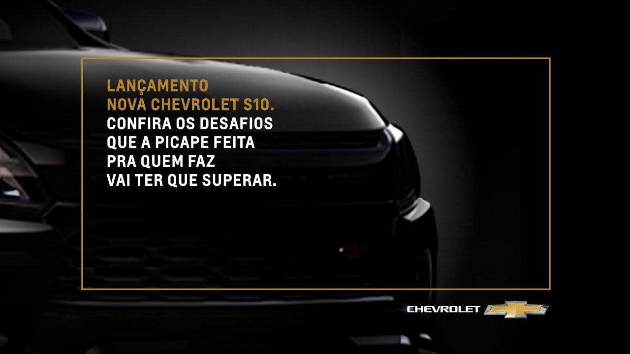 Chevrolet lança nova S10 com apresentação virtual e show exclusivo ...