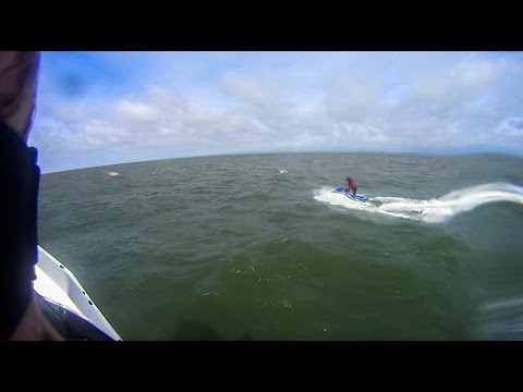 Seadoo spark wave jumping morecambe bay midland hotel jetski and out to sea