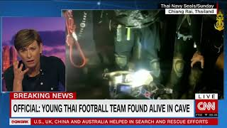 Missing Thai soccer team found alive in cave after nine days