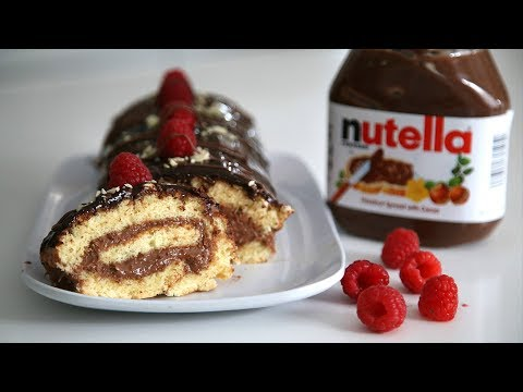 Շոկոլադով Նուտելլայով Ռուլետ - Chocolate Nutella Swiss Roll - Heghineh Cooking Show in Armenian
