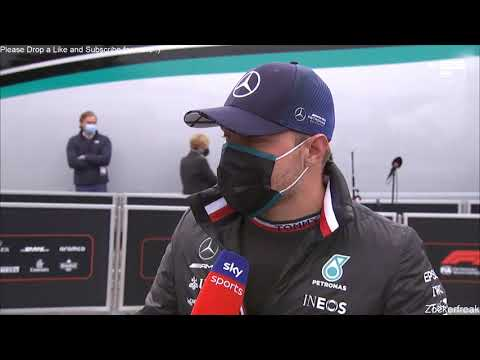 F1 2021 Imola GP: Post Race Bottas after the CRASH with Russel Interview