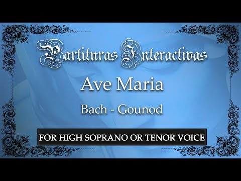 Ave Maria - Bach/Gounod (Karaoke - Key: G major)