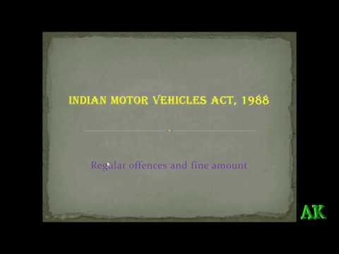 Motor vehicle act 1988 in tamil
