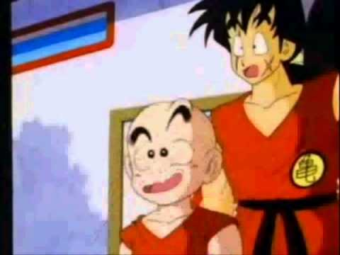chichi and goku kiss while krillin freaks out youtube