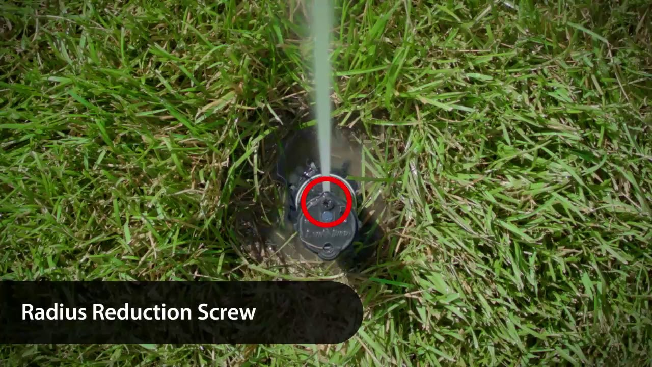How To Adjust The Distance On Rain Bird Rotor Sprinklers Youtube Sprinkler Installation Manual Diy Howto