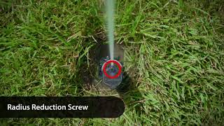 How to adjust the distance on Rain Bird rotor sprinklers