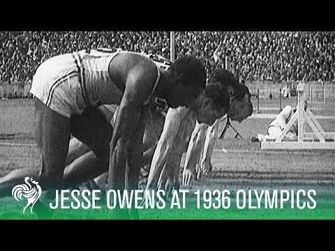 Jesse Owens Wins 100m Olympic Gold in front of Hitler at 1936 Olympics