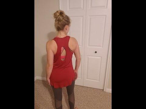 Yucharmyi Backless Tops Tunic Tops Yoga Shirt