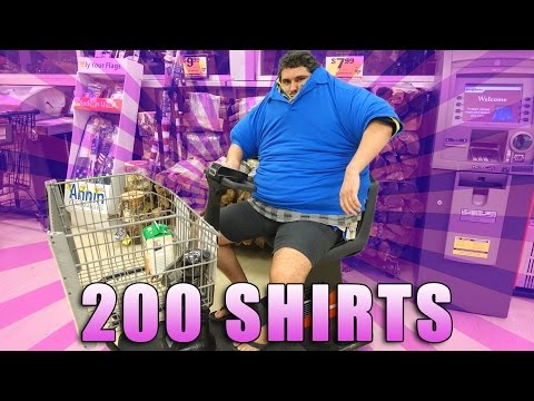 WEARING 200 SHIRTS IN THE GROCERY STORE